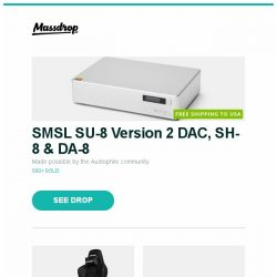 [Massdrop] SMSL SU-8 Version 2 DAC, SH-8 & DA-8, AKRacing Premium Masters Series Chairs, LG SK10Y 550W 5.1.2-Ch Dolby Atmos Soundbar and more...