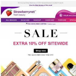 [StrawberryNet] ,  You Get Extra 10% Off Everything + FREE Int'l Shipping!