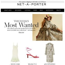 [NET-A-PORTER] New for you: shop the freshest pieces arriving now