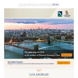 [Singapore Airlines] Relax in Premium Economy Class to USA