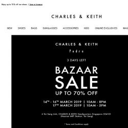 [Charles & Keith] See You at Our Biggest Bazaar Sale
