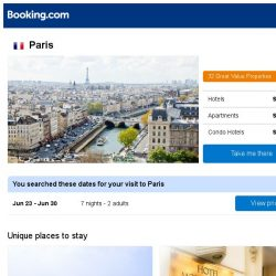 [Booking.com] Prices in Paris dropped again. Book hotels, apartments, and vacation homes now to save more!
