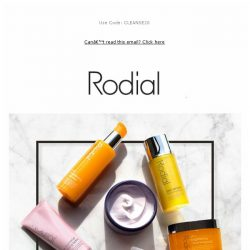 [RODIAL] Don't Miss Out | 20% Off All Cleansers