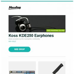 [Massdrop] Koss KDE250 Earphones, WinMix SA Chalk Dye-Subbed Keycap Set, Fällkniven A1Z Survival Knife (VG-10/Kraton/Zytel) and more...