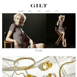 [Gilt] St. John | Italian Gold Jewelry