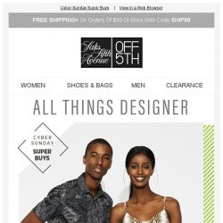[Saks OFF 5th] A gift from St. Patrick: Up to 70% off designer everything