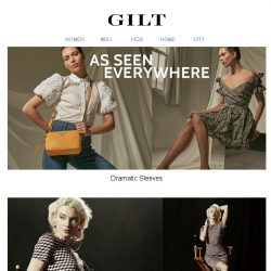 [Gilt] As Seen Everywhere: Dramatic Sleeves. Shop the look.