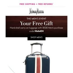 [Neiman Marcus] Your gift: A carry-on you'll love!