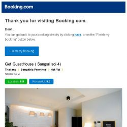 [Booking.com] Get GuestHouse ( Sangsri soi 4) – are you still interested in staying?
