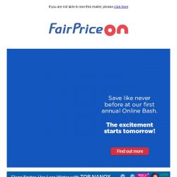 [Fairprice] Mega Savings Online Bash 2019 💥