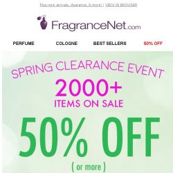 [FragranceNet] A surprise from FragranceNet.com! This is because we appreciate you: 50% OFF