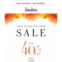 [Neiman Marcus] Celebrate spring with 40% off