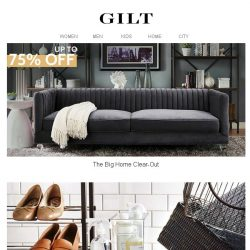 [Gilt] Up to 75% Off Home Clear-Out | Yamazaki & More