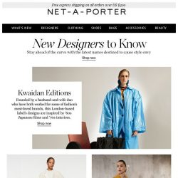 [NET-A-PORTER] The new designers to know
