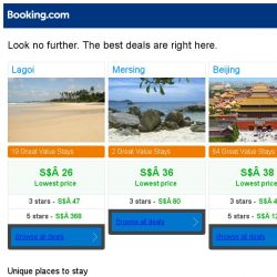 [Booking.com] Lagoi, Mersing, or Beijing? Get great deals, wherever you want to go