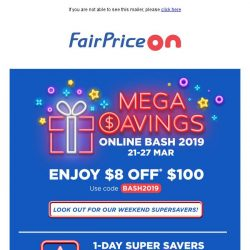 [Fairprice] Mega Savings happening now! 🔥