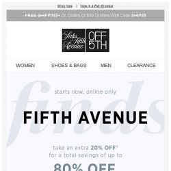 [Saks OFF 5th] Save up to 80% off with code 5THAVE + Limited-quantity Gentle Souls styles!