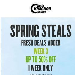 [Chain Reaction Cycles] One Week Only: Fresh New Lines