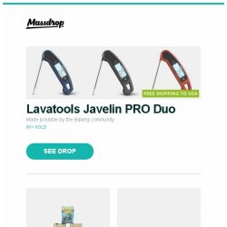 [Massdrop] Lavatools Javelin PRO Duo, Dragon Shield Gloss & Matte Sleeves (6-Pack), Vortex Race 3 Mechanical Keyboard and more...