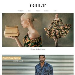 [Gilt] Dolce & Gabbana | $39 Jared Lang for 24 Hours Only