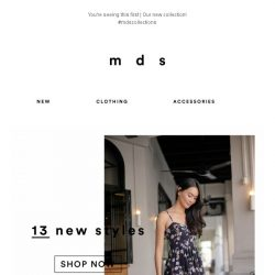 [MDS] Don't be late! New is in! ❤