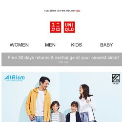 [UNIQLO Singapore] School Holiday Offers you've been waiting for