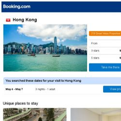 [Booking.com] Deals in Hong Kong from S$ 93