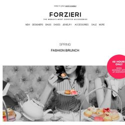 [Forzieri] Exclusive | Sunday Fashion Brunch, 48h Only