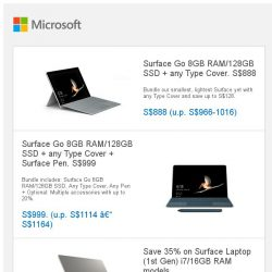 [Microsoft Store] PAYDAY sale: Surface Go on sale