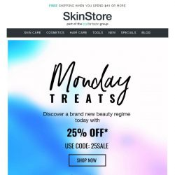 [SkinStore] 48 Hours Remaining: 25% off