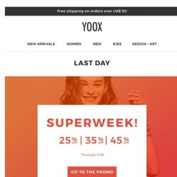 [Yoox] Is the SUPERWEEK already over?