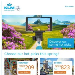 [KLM] The best spring destinations at great fares!