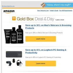 [Amazon] Save up to 30% on Men's Skincare & Grooming...