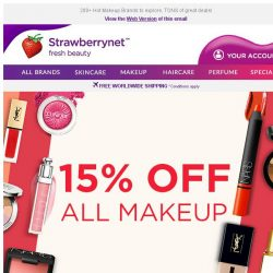 [StrawberryNet] , Last 24 Hours to Get Extra 15% Off ALL Makeup Sitewide!