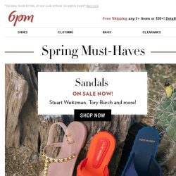 [6pm] Soooo many spring shoes (all on sale)!