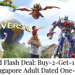 Universal Studios Singapore: Buy 2 Get 1 FREE Adult Tickets at SGD158 (U.P. SGD237) with MasterCard!