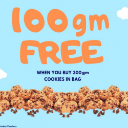 Famous Amos: Get 100gm FREE when you buy 300gm of Cookies In Bag!