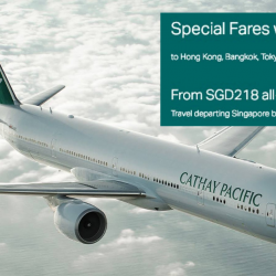 Cathay Pacific: Special Fares to Bangkok, Hong Kong, Japan, Korea & More from S$218 All-In with UOB Cards