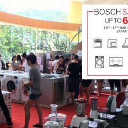 Bosch: SAFRA Sale with Up to 60% OFF Home Appliances This Weekend!