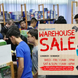 Shopitree.com: Annual Warehouse Sale 2019 with Up to 90% OFF Games & Accessories