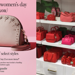 Kate Spade Outlet: International Women's Day Sale with Up to 70% OFF Select Styles + Extra 20% OFF with 2 or More Items Purchased!