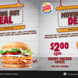 Burger King: Buy 1 Get 1 FREE Double Mentaiko BK Chick'N Crisp & $2 Crispy Chicken Cutlet!