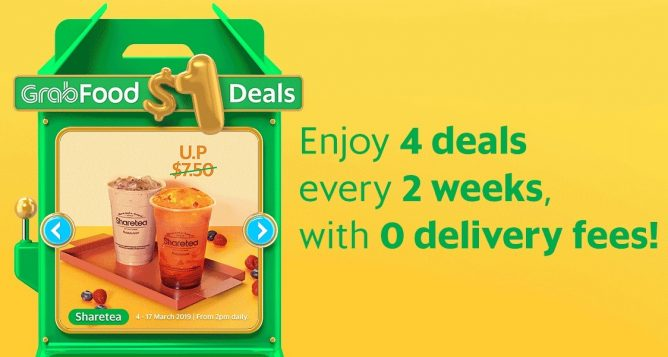 GrabFood: Grab $1 Deals from Chachako, Mr Bean, Sharetea