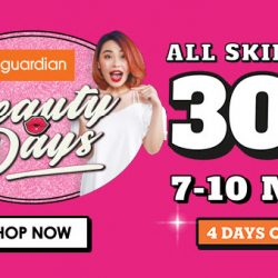 Guardian: Enjoy 30% OFF All Skincare In Stores & Online!