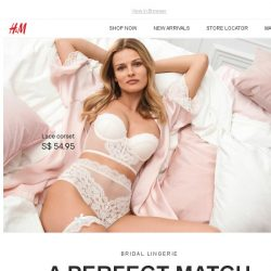 [H&M] Say I do to our new bridal lingerie