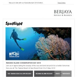 [Berjaya Hotels & Resorts EDm] Welcome the Amazing April!