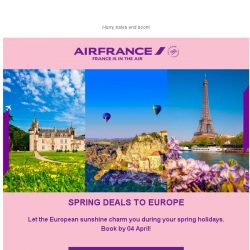 [AIRFRANCE] Don't miss our Spring deals to Europe