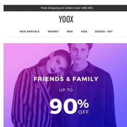 [Yoox] Up to 90% OFF, only for a few days!