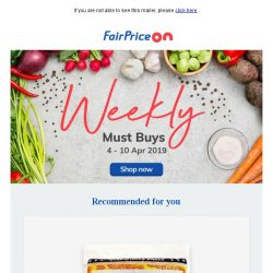 [Fairprice] This week's must-haves!