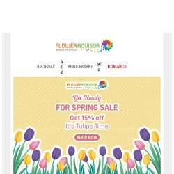 [Floweradvisor] It's Spring Time! Get 15% Off for Selected Items